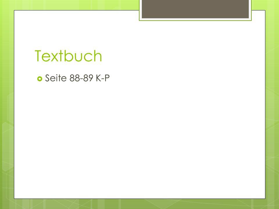 Textbuch  Seite 88-89 K-P