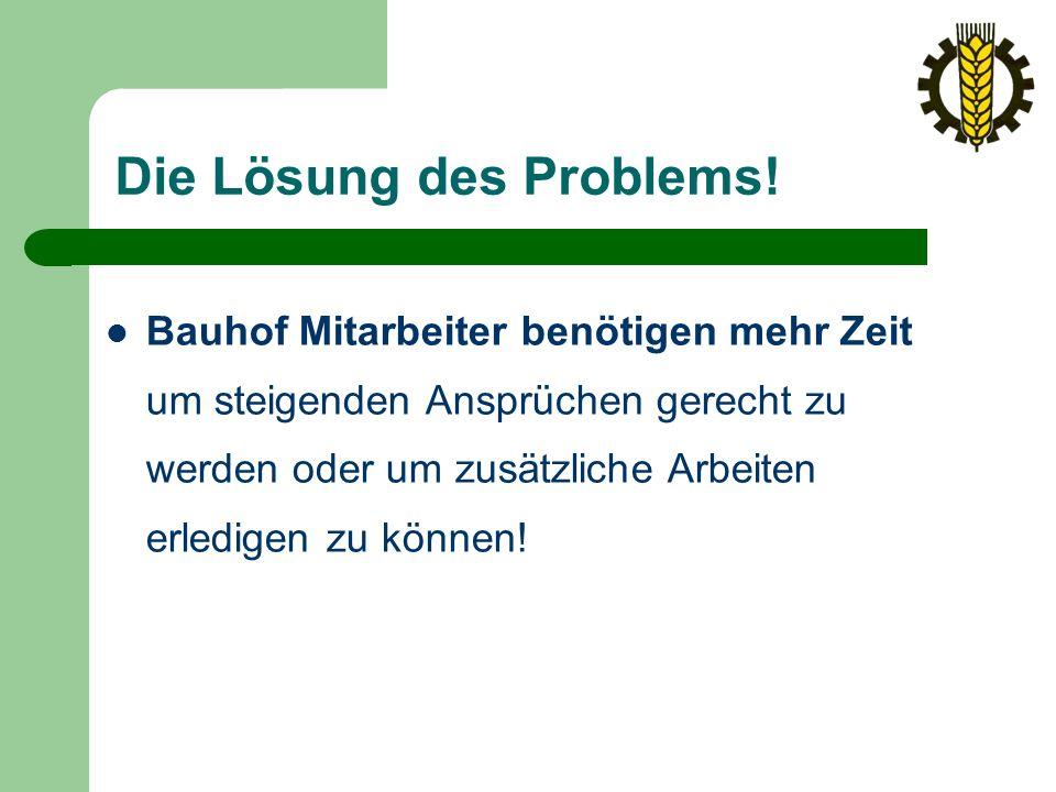 Die Lösung des Problems.
