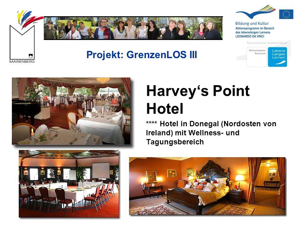 Projekt: GrenzenLOS III Harvey's Point Hotel **** Hotel in Donegal (Nordosten von Ireland) mit Wellness- und Tagungsbereich