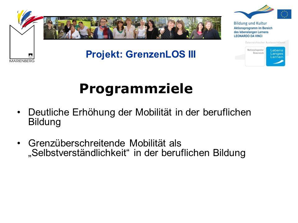 Projekt: GrenzenLOS III Teilnahmeberechtigte Länder 27 EU-Länder EFTA/EWR-Länder: Island, Norwegen, Liechtenstein Türkei