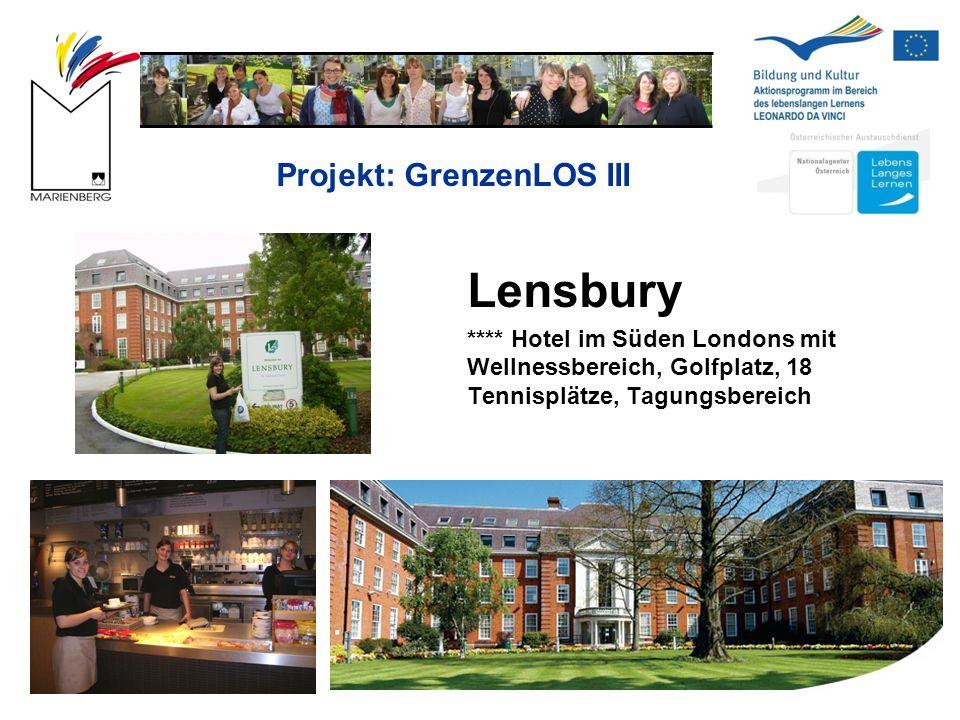 Projekt: GrenzenLOS III Lensbury **** Hotel im Süden Londons mit Wellnessbereich, Golfplatz, 18 Tennisplätze, Tagungsbereich
