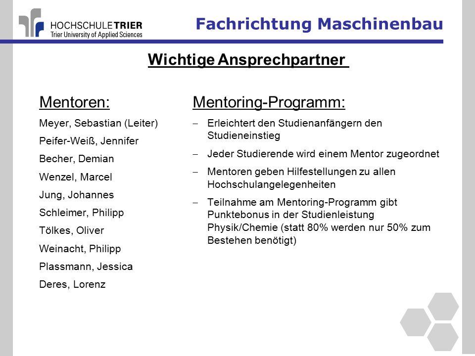 Fachrichtung Maschinenbau Quelle: Verband deutscher Wirtschaftsingenieure e.V.