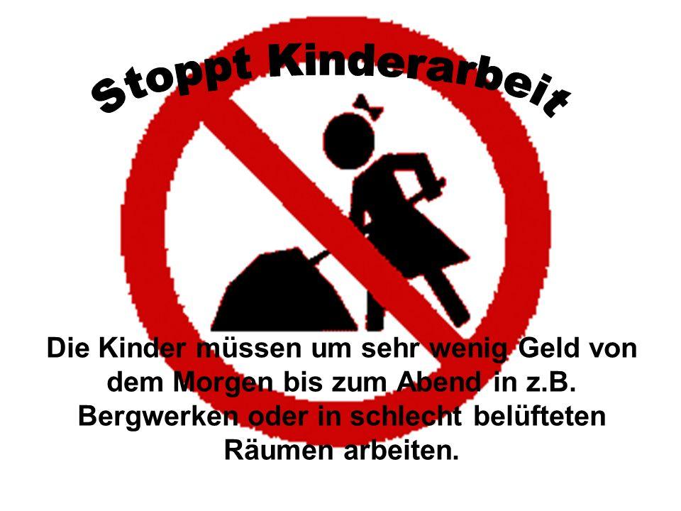 in Europa Niemand denkt daran, aber auch in Europa gibt es Kinderarbeit.