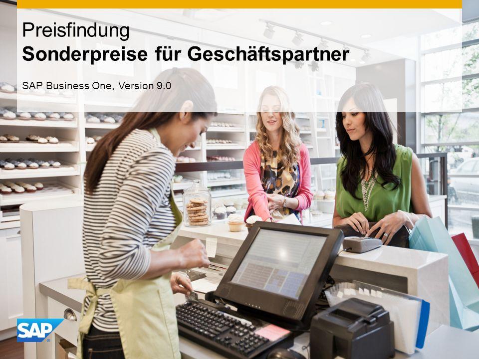 INTERN Preisfindung Sonderpreise für Geschäftspartner SAP Business One, Version 9.0