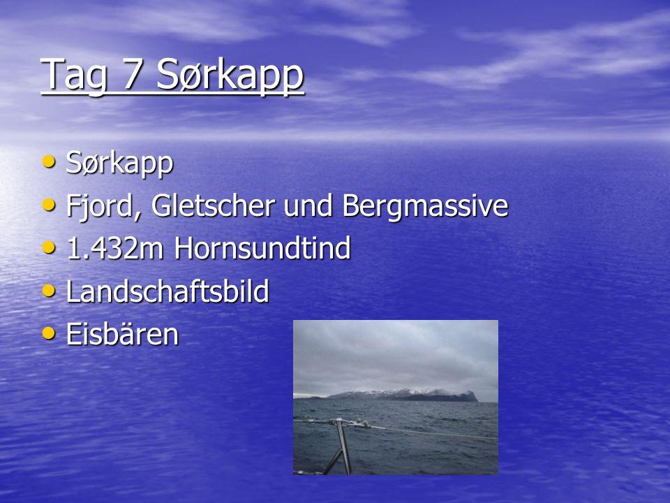 Tag 7 Sørkapp Sørkapp Fjord, Gletscher und Bergmassive 1.432m Hornsundtind Landschaftsbild Eisbären