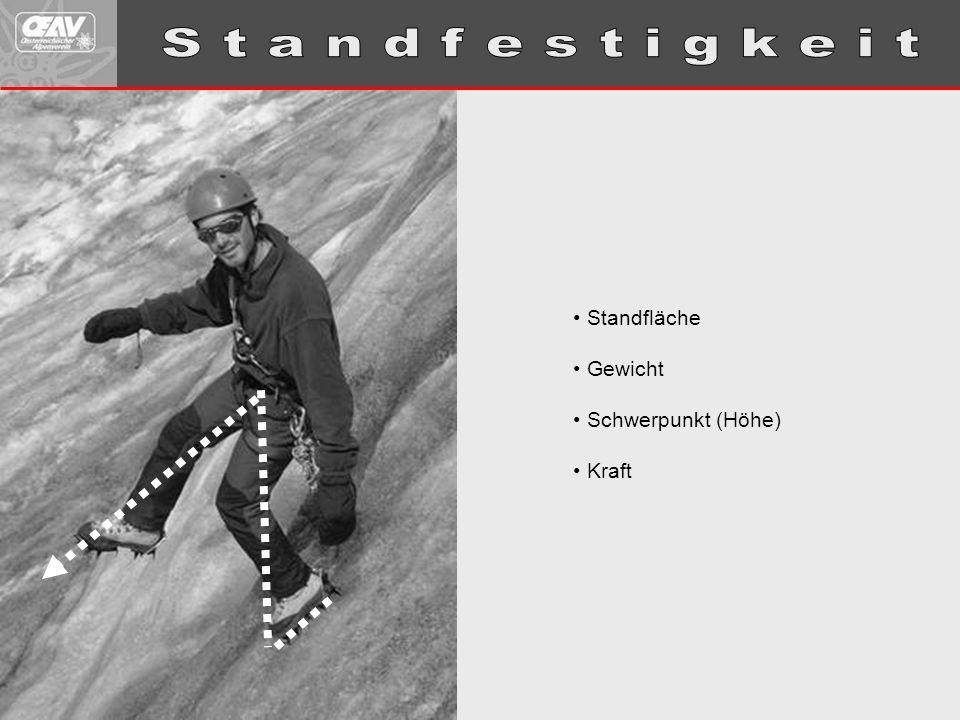 Standfläche Gewicht Schwerpunkt (Höhe) Kraft