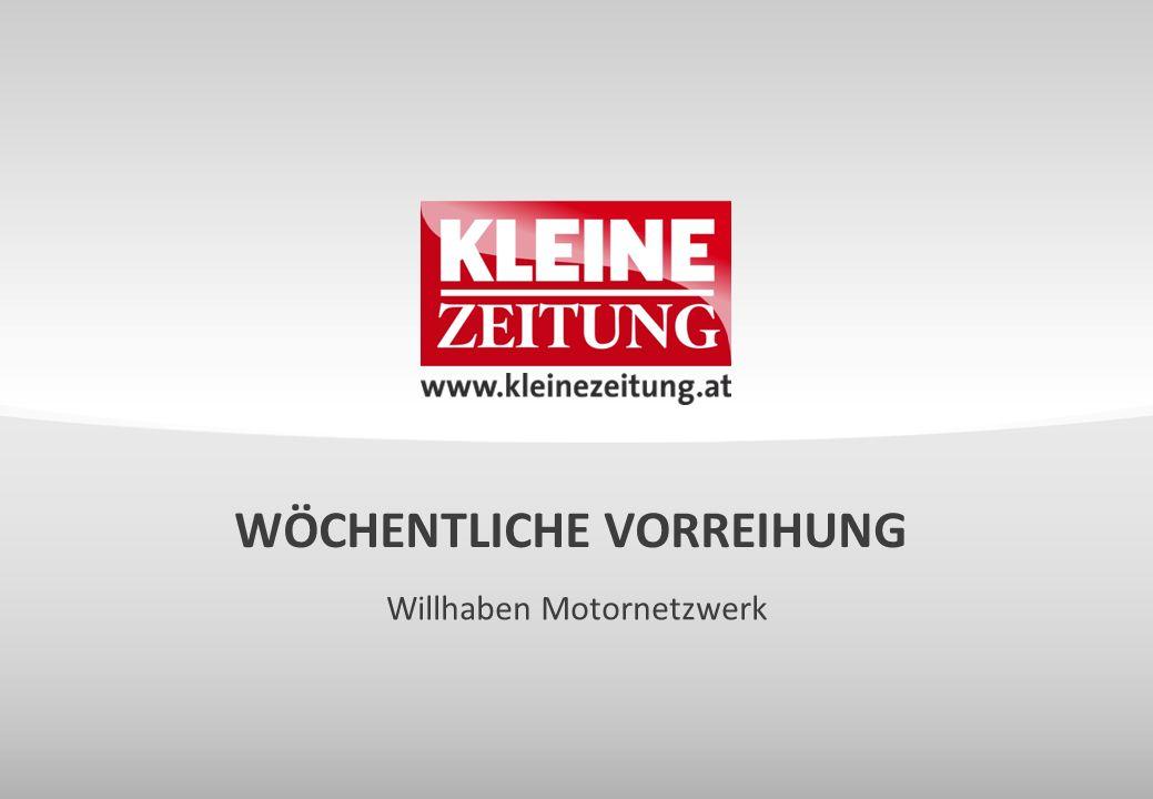WÖCHENTLICHE VORREIHUNG Willhaben Motornetzwerk