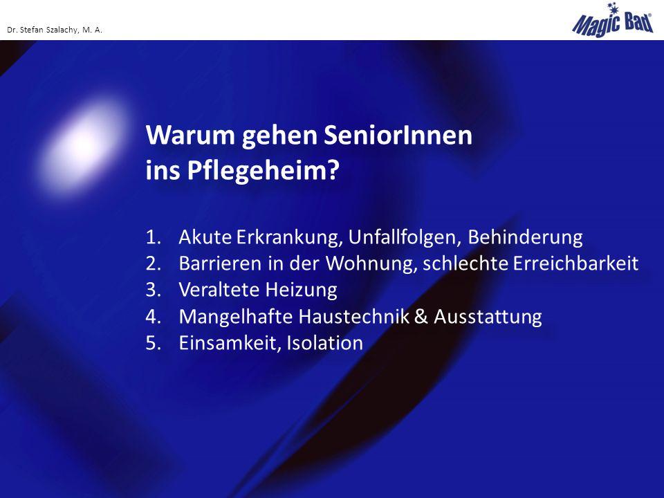Risiko-Hotspot Badezimmer Alle 30 Minuten passiert ein Unfall in Österreichs Badezimmern Mehr als 17.000 Badezimmer-Unfälle im Jahr Haupt-Betroffene: Menschen über 60 Jahren (mehr als 40 Prozent der Unfälle) Frauen häufiger als Männer betroffen Haupt-Unfallursachen: stürzen, stolpern, ausrutschen