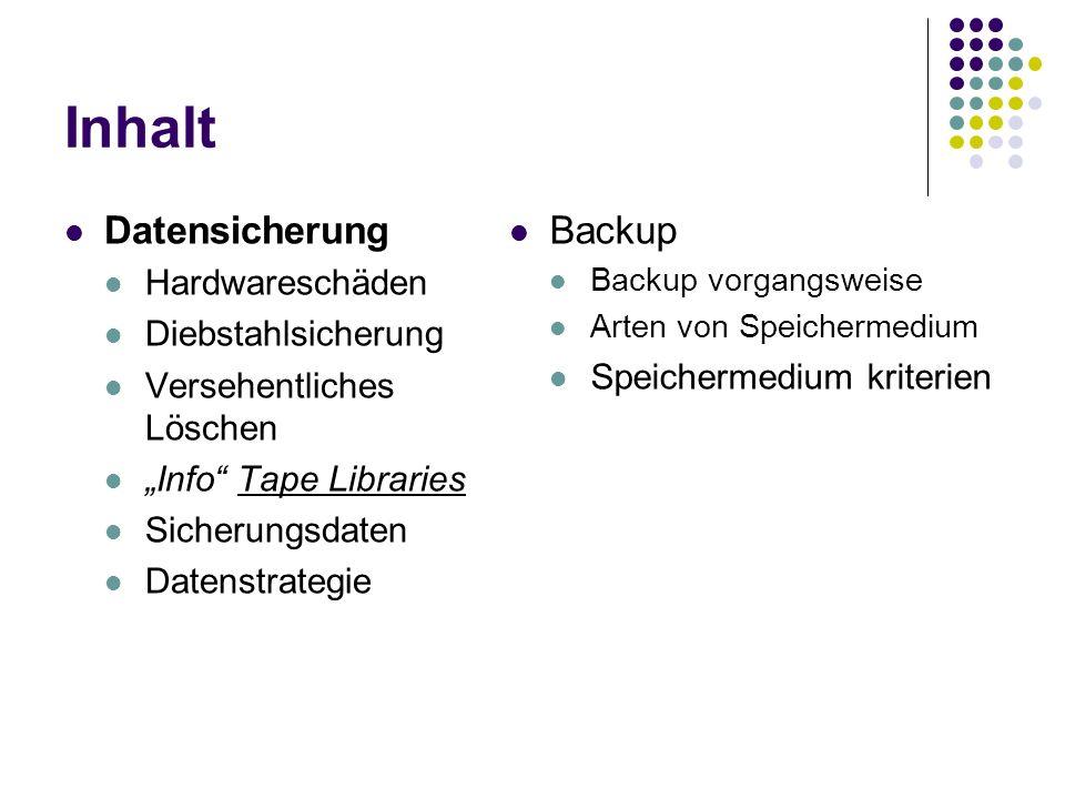 4 Schritte zu einem erfolgreichen Backup Wahl des Backups Inkrementelles Backup Differenzielles Backup Vollbackup Wichtige Daten finden Achte auf Duplikate Backup machen Es gibt viele Programme zur Backupsicherung HDClone Easy Backup Backup auf Funktionalität prüfen