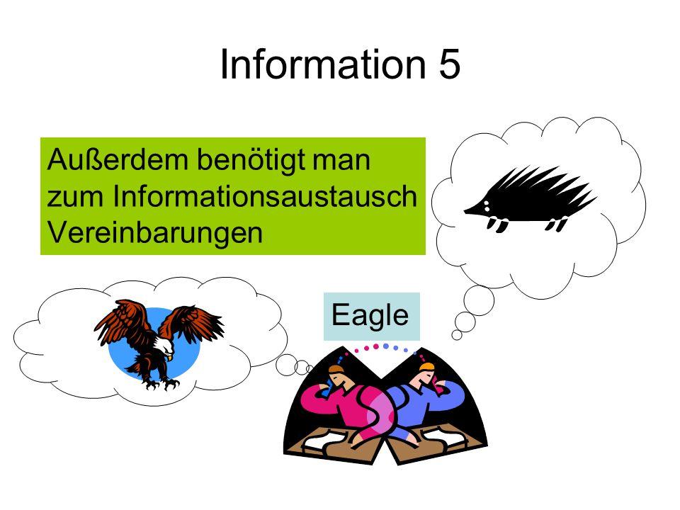 Information 5 Außerdem benötigt man zum Informationsaustausch Vereinbarungen Eagle