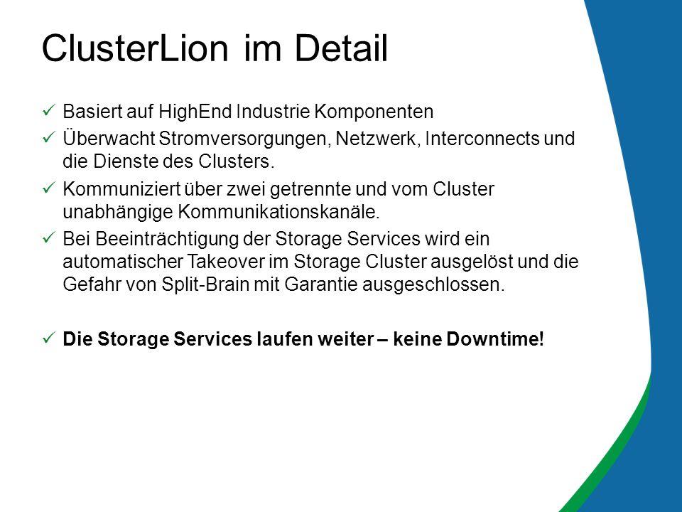 Basiert auf HighEnd Industrie Komponenten Überwacht Stromversorgungen, Netzwerk, Interconnects und die Dienste des Clusters.