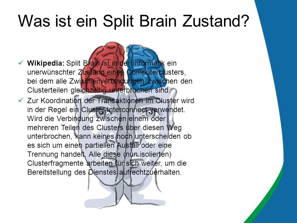 Was ist ein Split Brain Zustand.