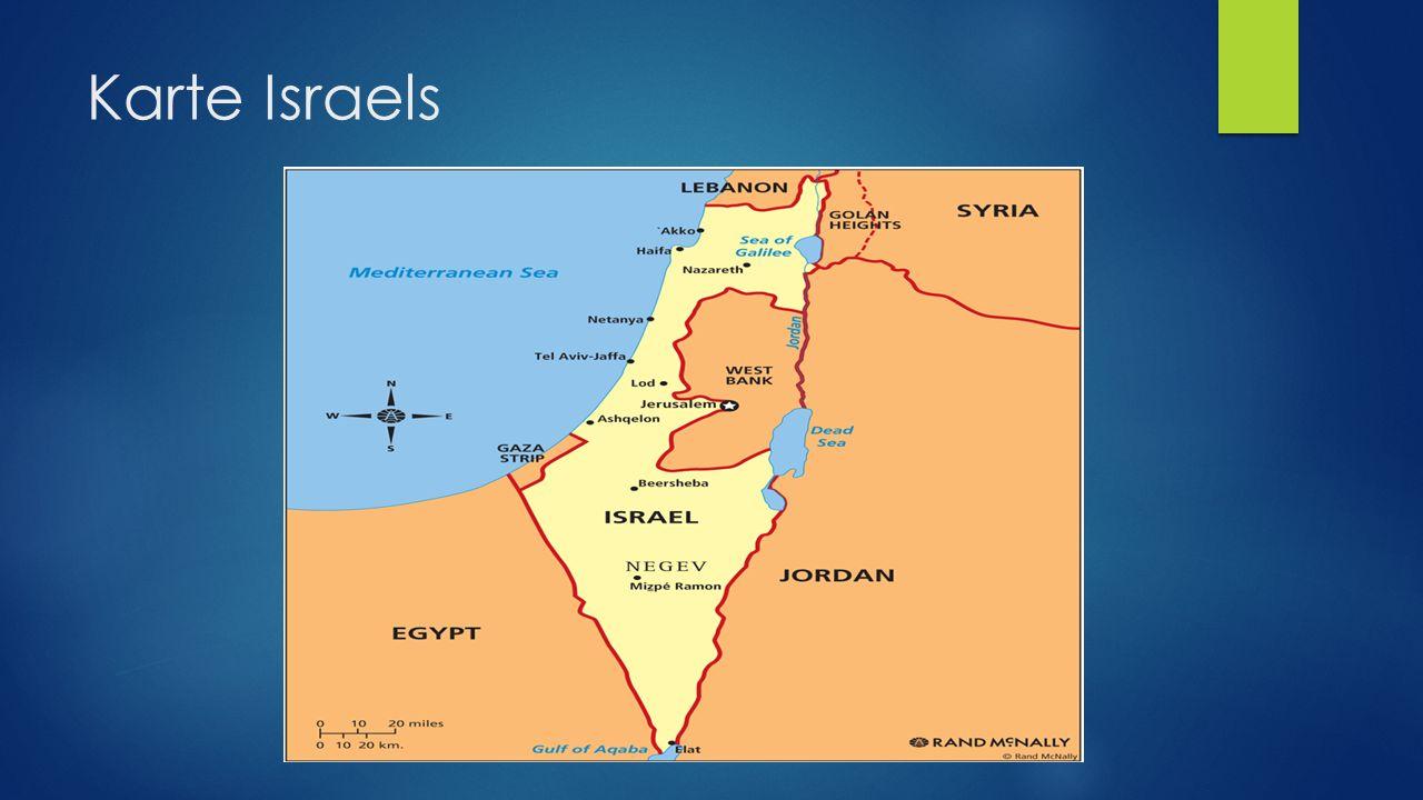 Karte Israels