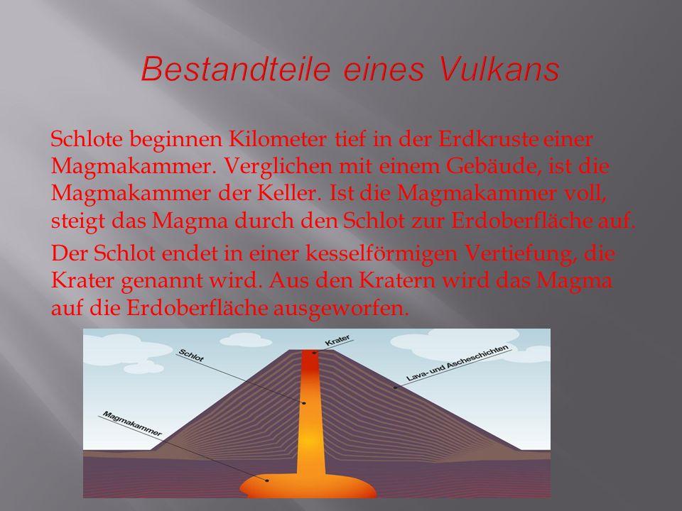 Schildvulkane : Schildvulkane sind die grössten Vulkane.