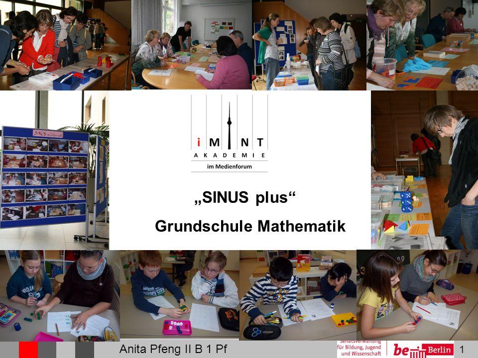 "1 ""SINUS plus Grundschule Mathematik Anita Pfeng II B 1 Pf"