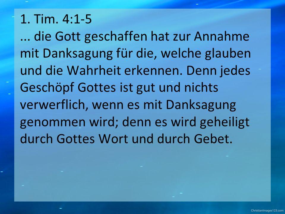 1. Tim. 4:1-5...