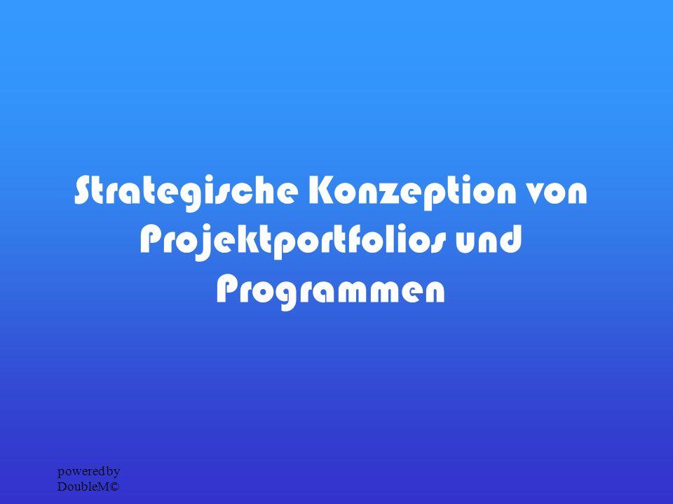 powered by DoubleM© Projektportfolio Bei Projektportfolios werden Projekte gemeinsam koordiniert damit das Unternehmen einen größeren Nutzen daraus ziehen kann.