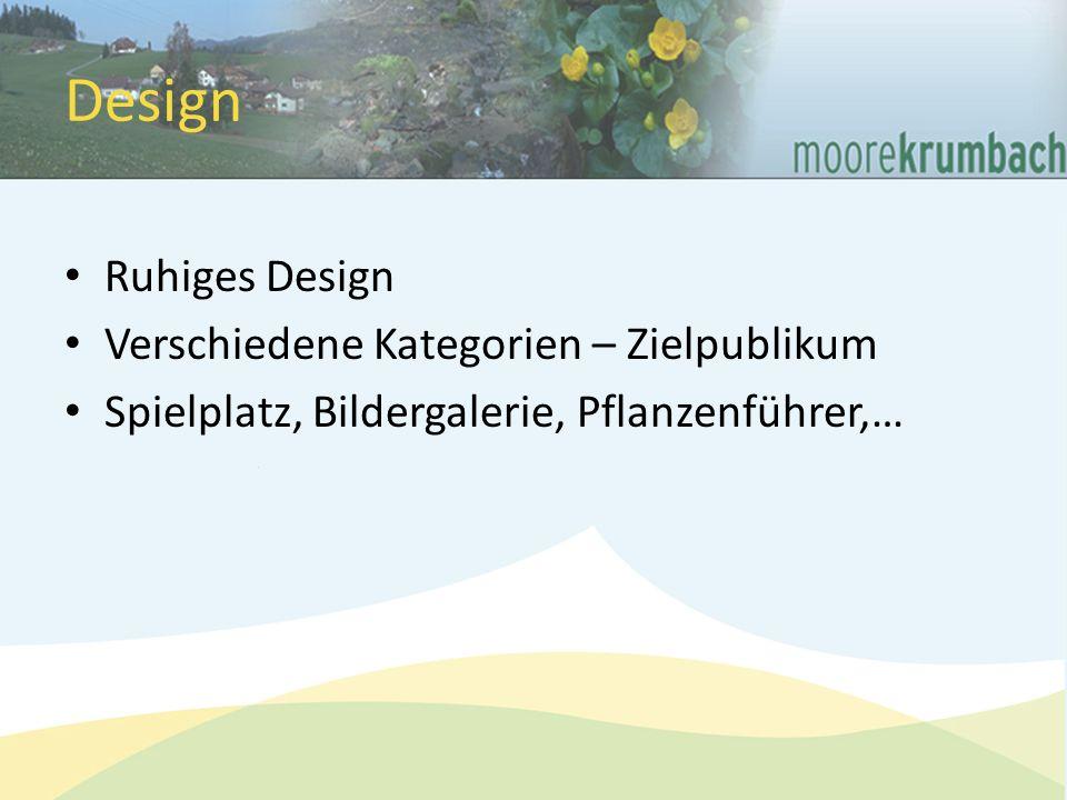Design Ruhiges Design Verschiedene Kategorien – Zielpublikum Spielplatz, Bildergalerie, Pflanzenführer,…