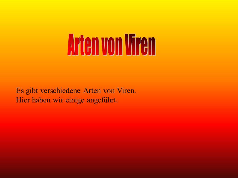 ARTEN VON VIREN Malware ist ein allgemeiner Begriff für unerwartete bzw.
