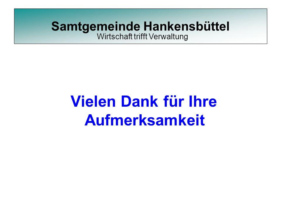 Samtgemeinde Hankensbüttel Vielen Dank für Ihre Aufmerksamkeit Wirtschaft trifft Verwaltung