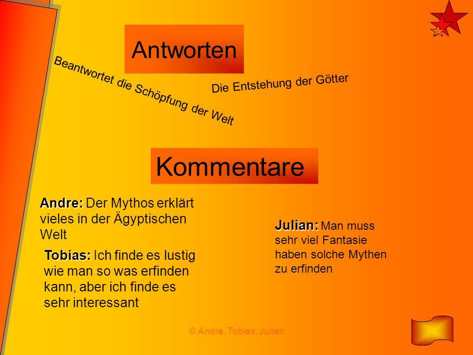 © Andre, Tobias, Julian Antworten Beantwortet die Schöpfung der Welt Die Entstehung der Götter Kommentare Andre: Andre: Der Mythos erklärt vieles in d