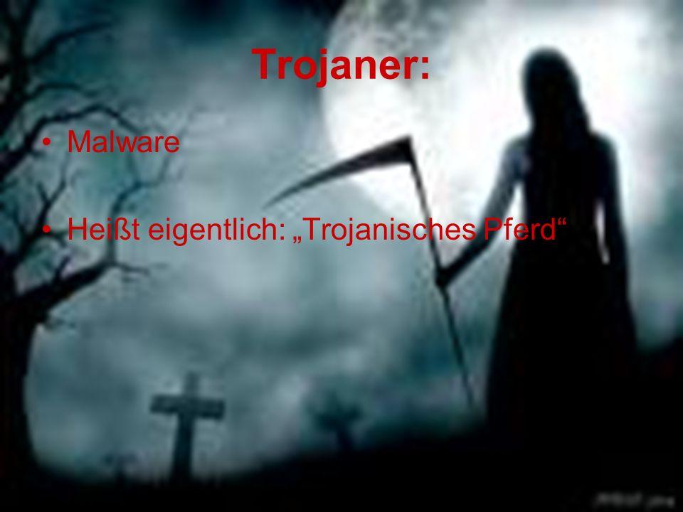 """Trojaner: Malware Heißt eigentlich: """"Trojanisches Pferd"""""""