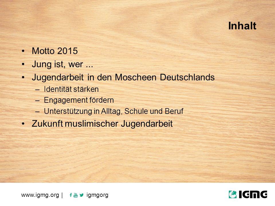 Motto 2015 Jung ist, wer...