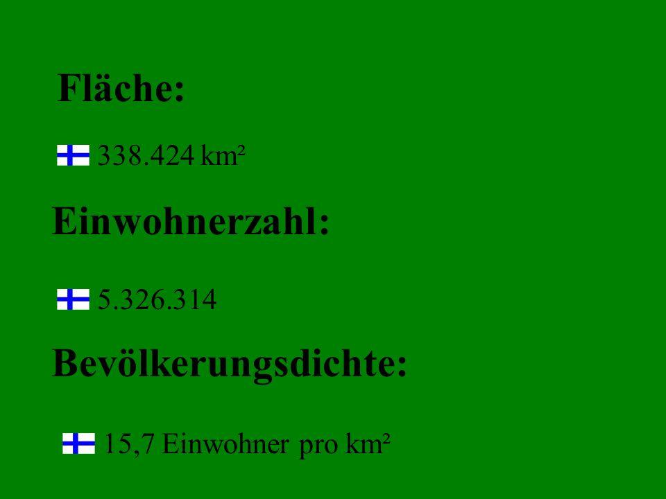 Fläche: 338.424 km² Einwohnerzahl: 5.326.314 Bevölkerungsdichte: 15,7 Einwohner pro km²