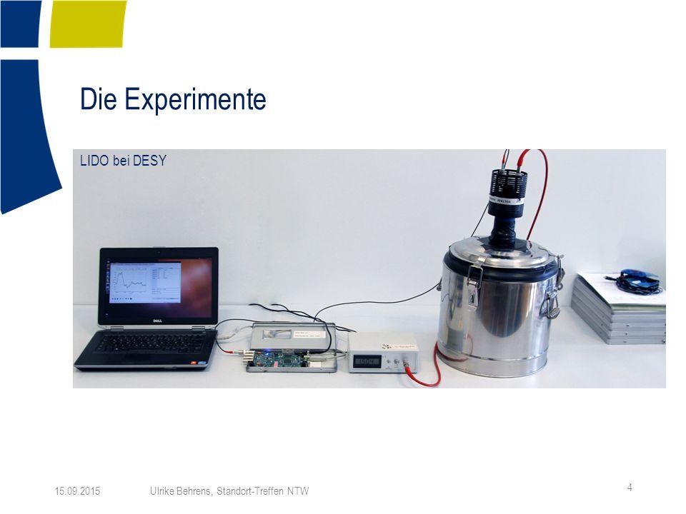 Die Experimente 4 15.09.2015 Ulrike Behrens, Standort-Treffen NTW LIDO bei DESY