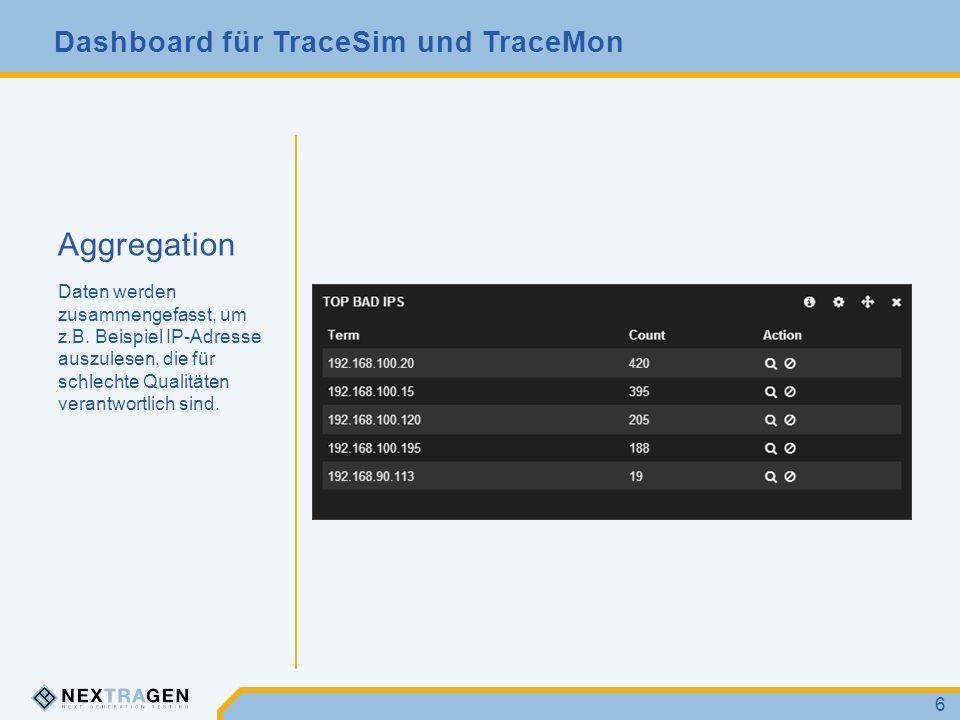 Aggregation Daten werden zusammengefasst, um z.B.
