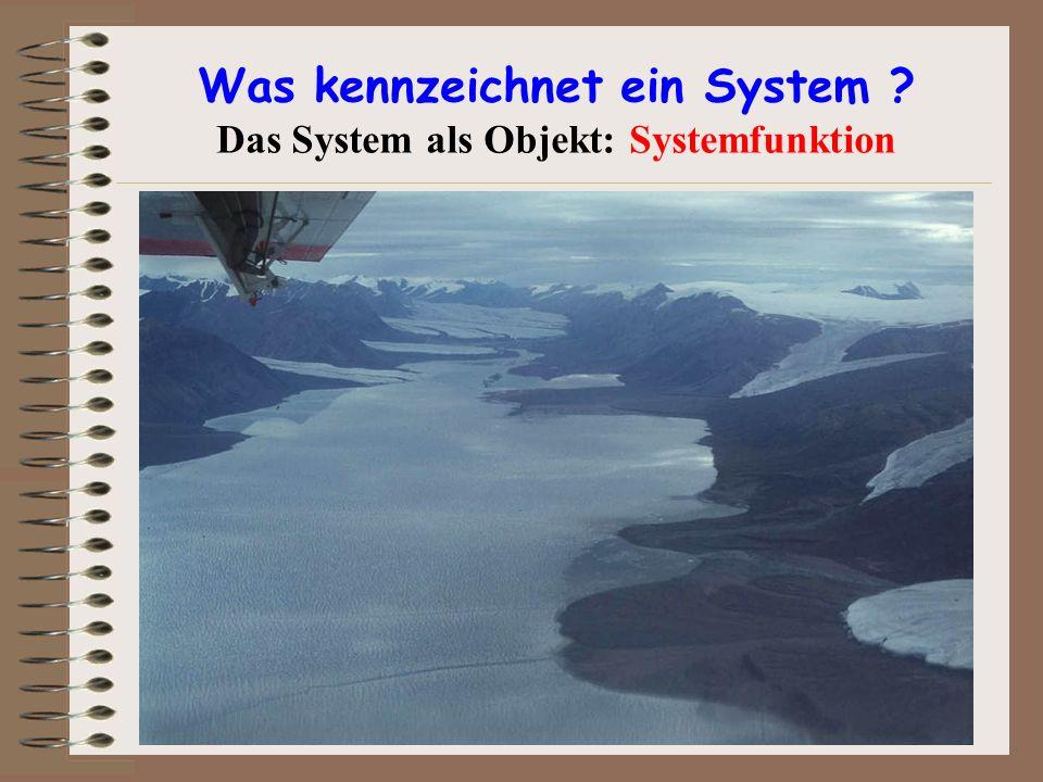 Was kennzeichnet ein System ? Das System als Objekt: Systemfunktion