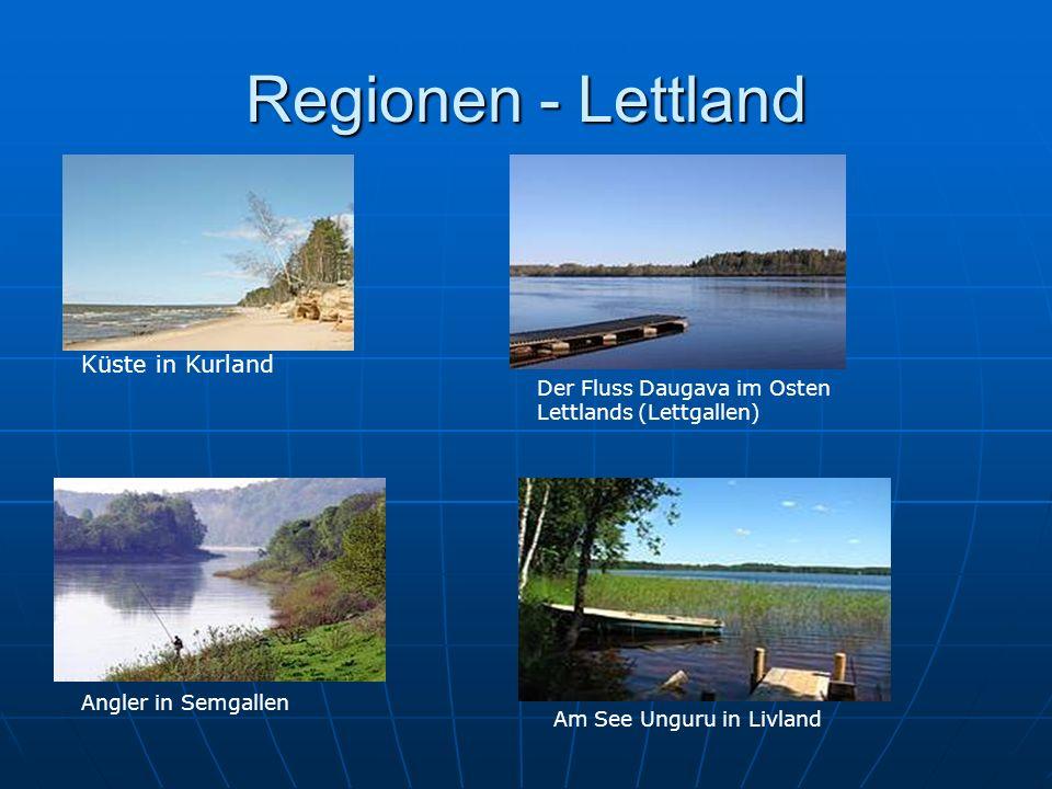 Küste in Kurland Der Fluss Daugava im Osten Lettlands (Lettgallen) Angler in Semgallen Am See Unguru in Livland