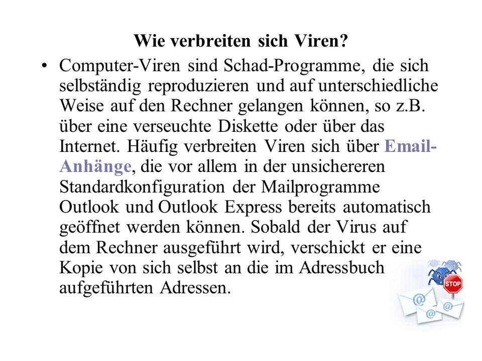 Wie verbreiten sich Viren.