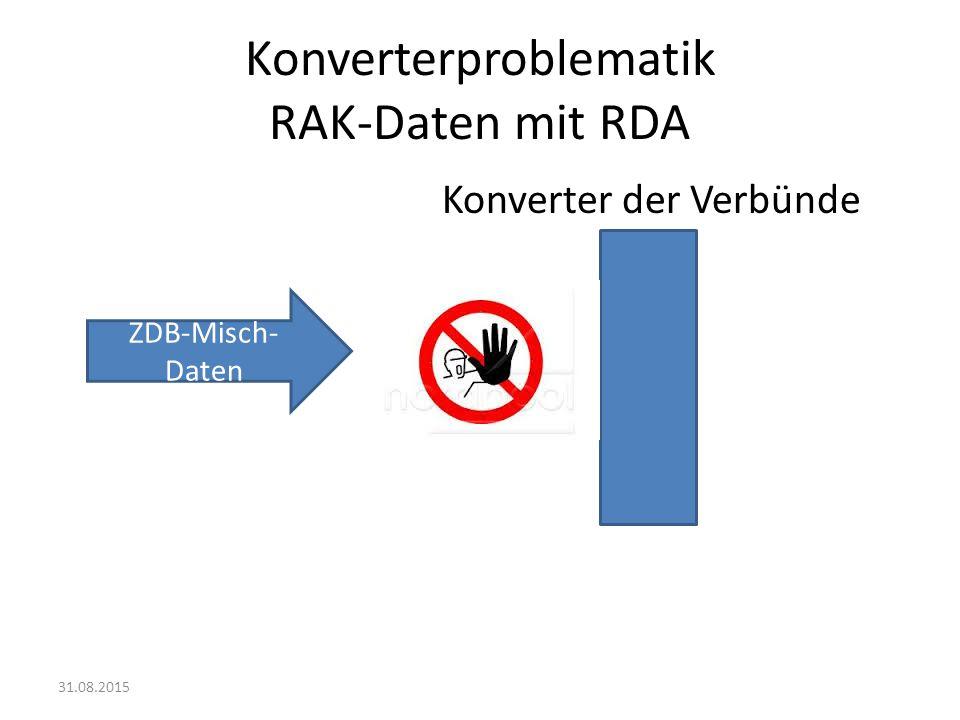Konverterproblematik Konverter der Verbünde ZDB-Daten 31.08.2015