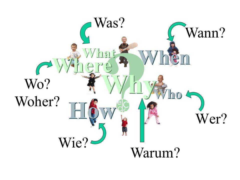 Wer? Was? Wo? Woher? Wie? Wann? Warum?