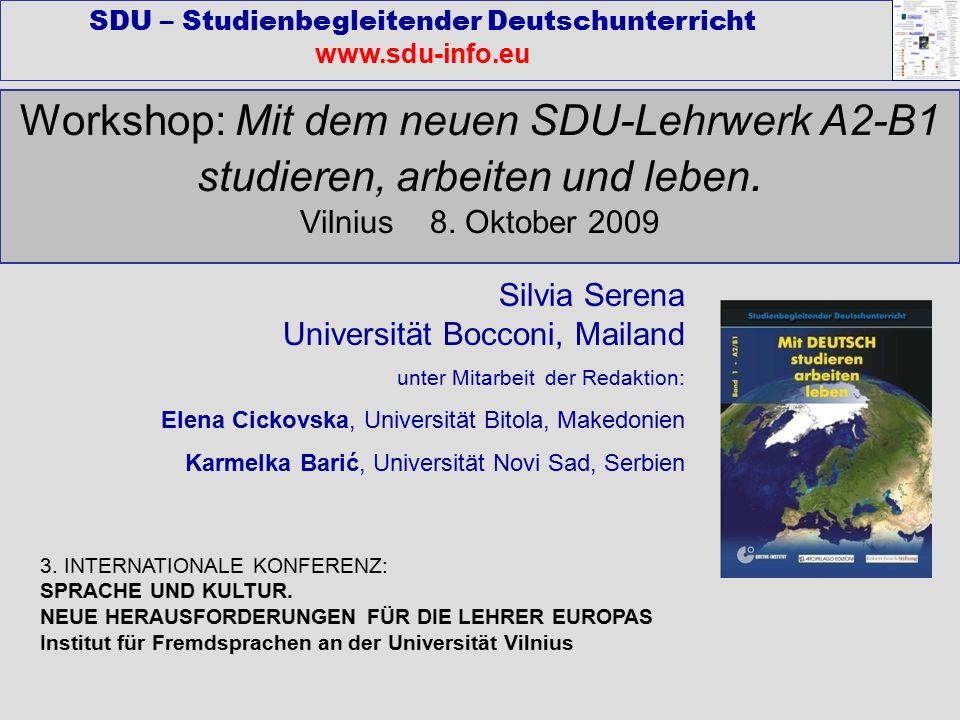 Workshop: Mit dem neuen SDU-Lehrwerk A2-B1 studieren, arbeiten und leben.