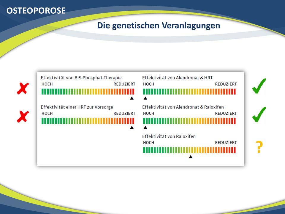 OSTEOPOROSE Die genetischen Veranlagungen ?