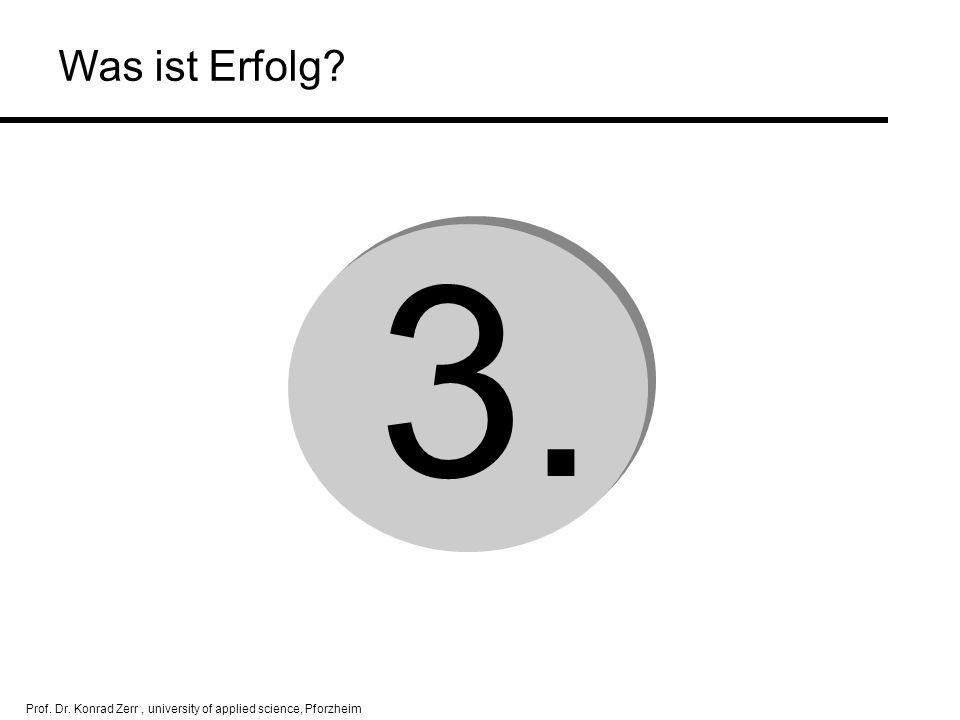 Prof. Dr. Konrad Zerr, university of applied science, Pforzheim 3. Was ist Erfolg?