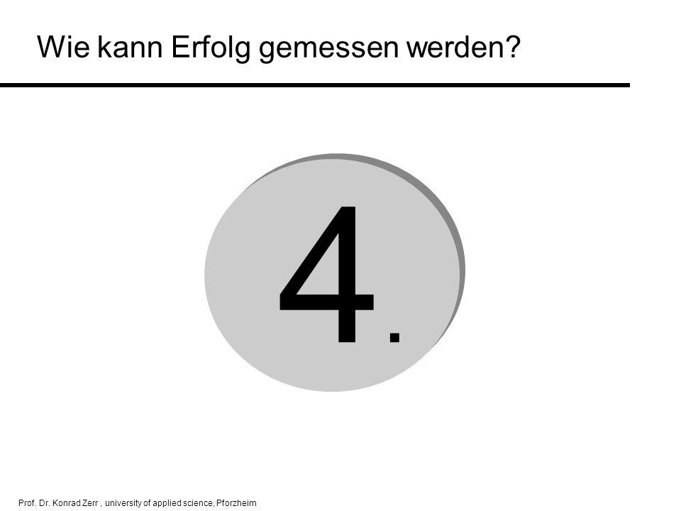Prof. Dr. Konrad Zerr, university of applied science, Pforzheim 4.4. Wie kann Erfolg gemessen werden?