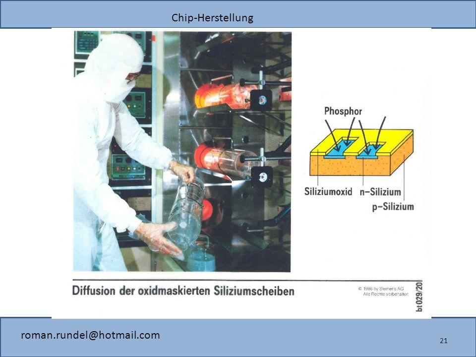 Chip-Herstellung roman.rundel@hotmail.com 21