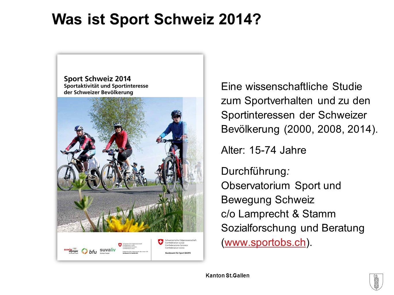 Kanton St.Gallen Was ist Sport Schweiz 2014.