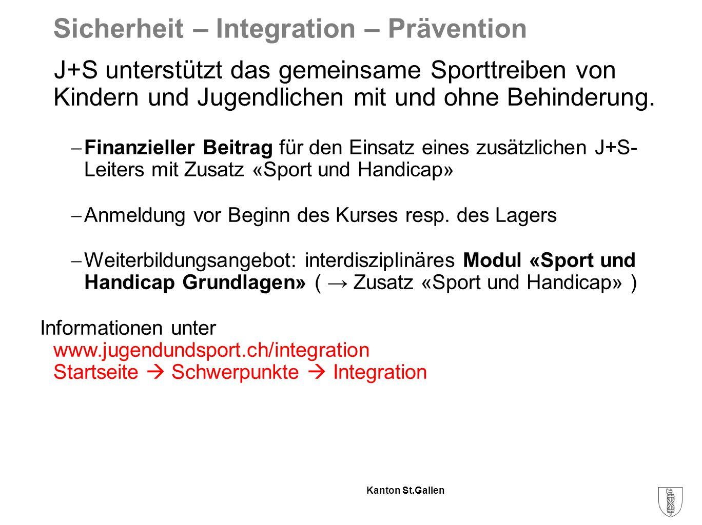 Kanton St.Gallen Vielen Dank für deinen Einsatz!