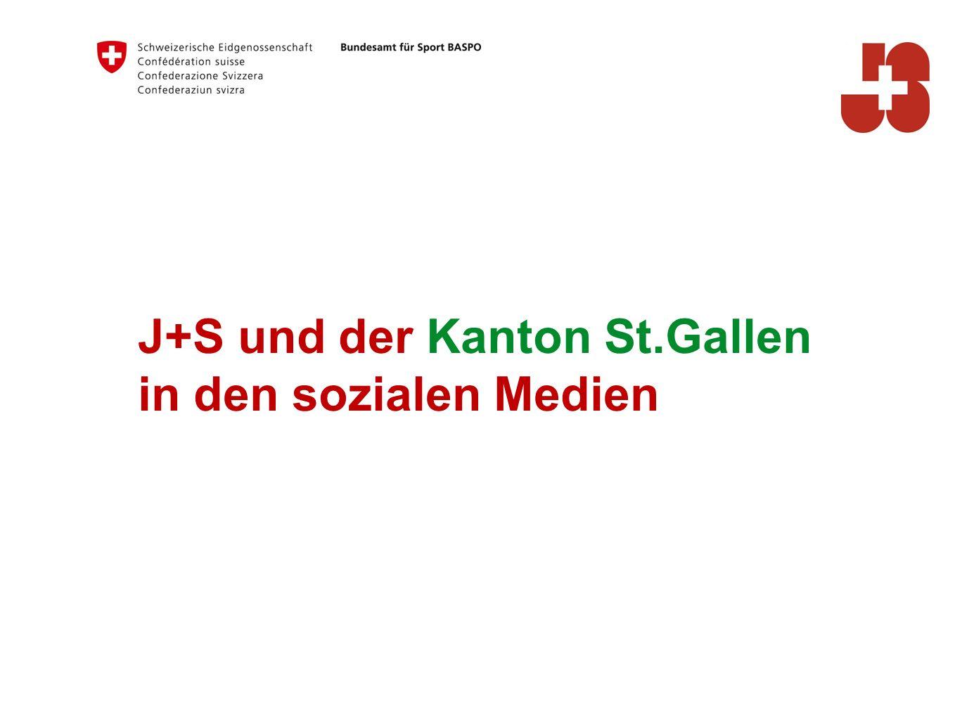 J+S und der Kanton St.Gallen in den sozialen Medien