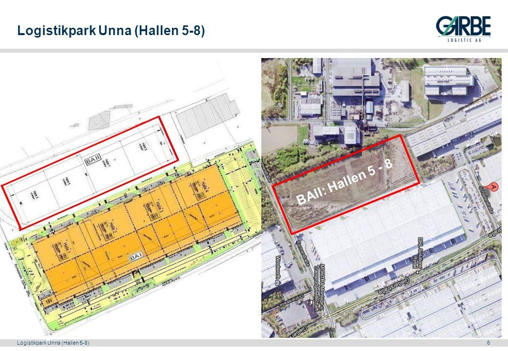 Logistikpark Unna (Hallen 5-8)7 Möglicher Grundriss der Lagerhallen