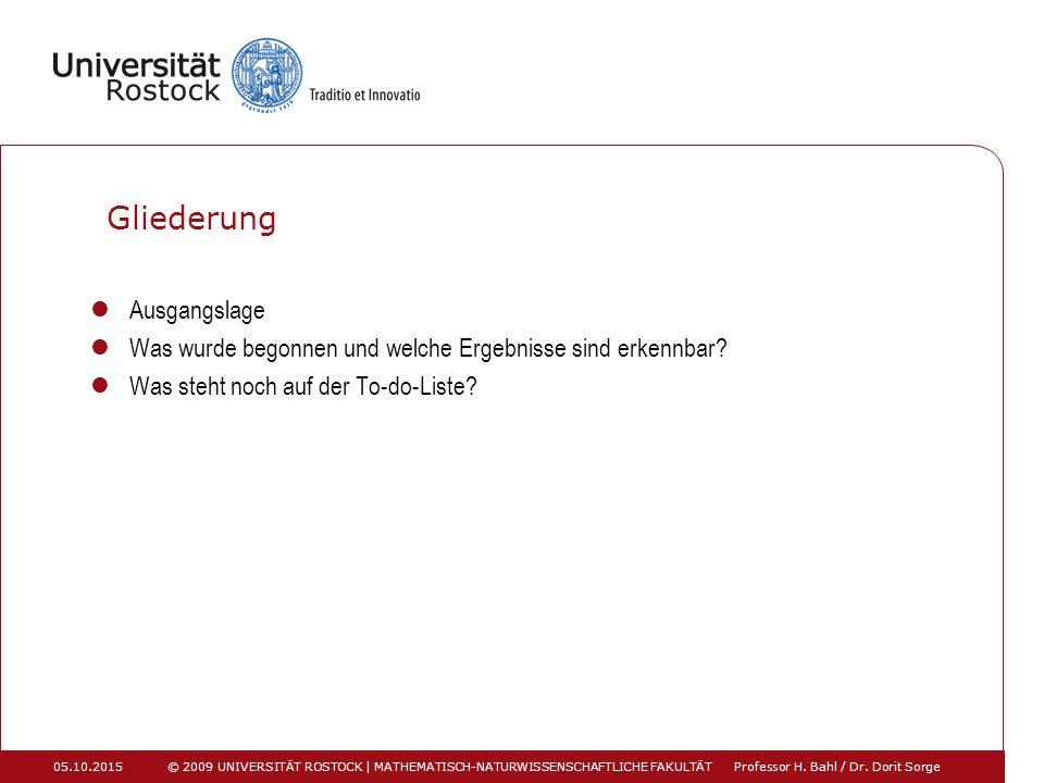Ausgangslage Amtsübernahme im Oktober 2013 von Prof.