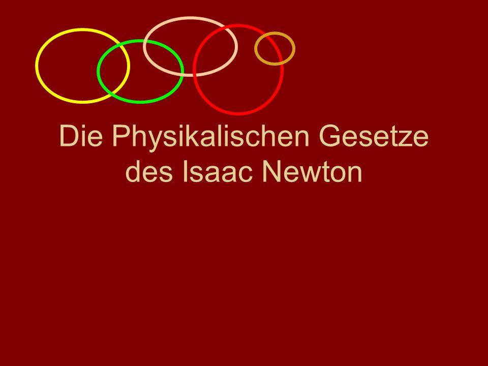 Die Physikalischen Gesetze des Isaac Newton