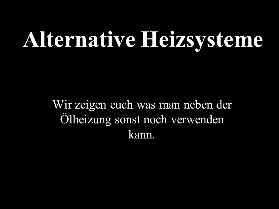 Alternative Heizsysteme Martin L. Blum | Maximilian Huber