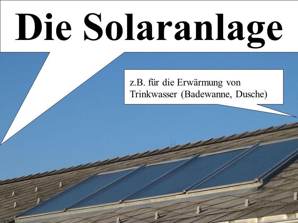 Alternative Heizsysteme Martin L. Blum | Maximilian Huber Die Solaranlage z.B.