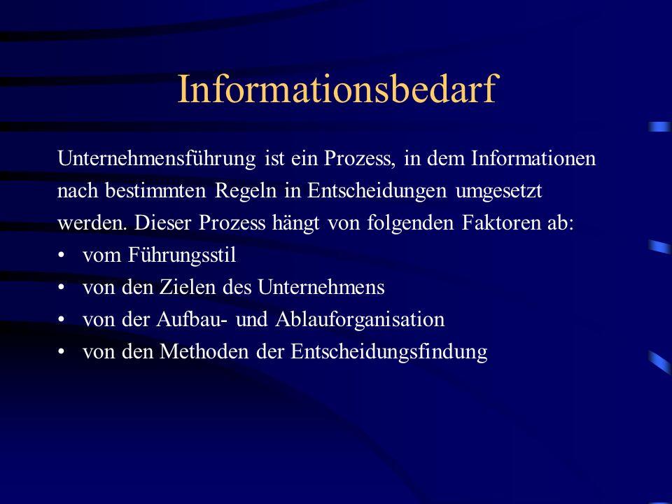 Informationsfluss in Unternehmen Man unterscheidet zwischen vertikalen und horizontalen (gleichrangige Stellen) Informationswegen.