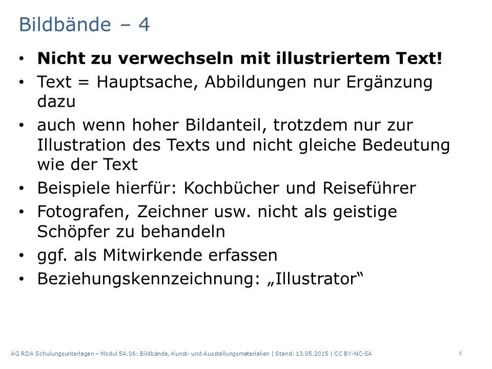 Bildbände – 4 Nicht zu verwechseln mit illustriertem Text.